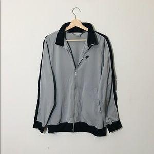 Oversized Nike Silver Grey Bomber Jacket